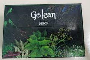 Sản phẩm 'Go lean Detox' sản xuất tại Đồng Nai bị thu hồi ở Singapore