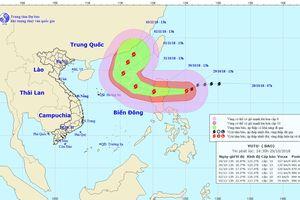 Siêu bão YUTU tiến vào Biển Đông