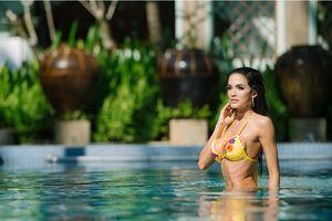 Tân Hoa hậu Hòa bình Thế giới 2018 khoe vòng 1 nóng bỏng khi chụp hình bikini