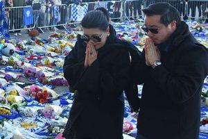 Hình ảnh đầu tiên gia đình Chủ tịch Leicester City tại hiện trường vụ tai nạn
