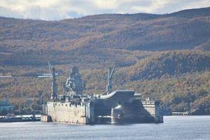 Sự cố nghiêm trọng khiến tàu sân bay Đô đốc Kuznetsov hỏng nặng khi đang sửa chữa