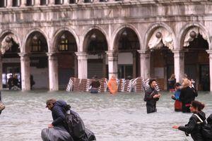 Venice ngập chìm trong nước vì thủy triều cao bất thường