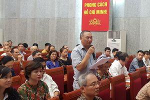 Quận Hoàng Mai 'giảm nhiệt' kiến nghị dân sinh