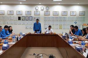 Phó Chủ tịch Tổng LĐLĐ Việt Nam Trần Thanh Hải làm việc tại Cty TNHH MCNEX Vina