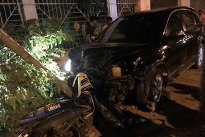 Thượng tá công an lái xe ô tô gây tai nạn, 2 người bị thương
