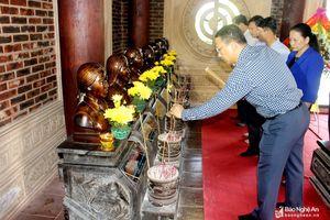 Các địa phương dâng hương tại Khu Di tích lịch sử Quốc gia Truông Bồn
