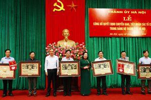 Thành ủy Hà Nội chuyển giao, tiếp nhận 6 tổ chức cơ sở đảng