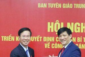 Bổ nhiệm ông Nguyễn Thanh Long giữ chức Phó Trưởng Ban Tuyên giáo Trung ương