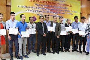 Trao giải Cuộc thi sáng tác biểu trưng kỷ niệm 45 năm thiết lập quan hệ ngoại giao Việt Nam-Canada