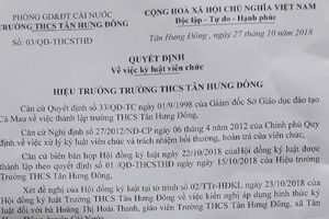 UBND tỉnh Cà Mau rà soát quy trình cho giáo viên thôi việc