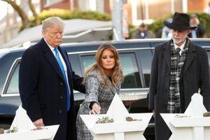Ông Trump bị phản đối khi đến tưởng niệm nạn nhân bị xả súng ở nhà thờ Do Thái