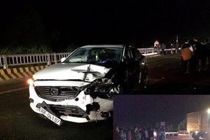 Nữ tài xế Mazda va chạm với xe máy chở cam trên đường mới Hà Nội – Hòa Bình, 1 người tử vong