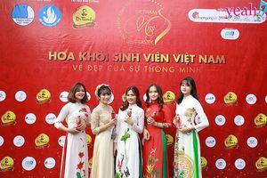 Nữ sinh Thái Nguyên thướt tha áo dài tập trung tại ĐH Công Nghệ Thông Tin tham dự vòng Sơ khảo Hoa khôi Sinh viên Việt Nam 2018