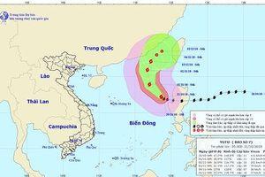 Tin mới nhất về diễn biến bão số 7 trên Biển Đông