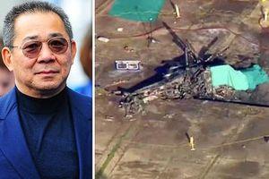 Clip: Cận cảnh chiếc trực thăng chở Chủ tịch Leicester gặp nạn