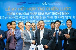 CMC bắt tay SAMSUNG SDS triển khai giải pháp nhà máy thông minh, IoT tại Việt Nam và khu vực