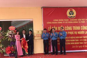 CĐ Than – Khoáng sản VN gắn biển Cụm công trình phục vụ NLĐ Cty CP Đồng Tả Phời