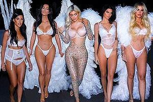 Chị em nhà Kim Kardashian hóa thân thành thiên thần nội y