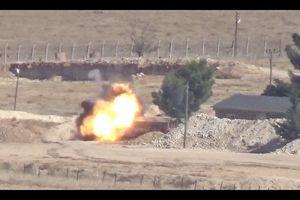Phiến quân Syria được Mỹ chống lưng đáp trả, phá tan xe quân sự Thổ Nhĩ Kỳ