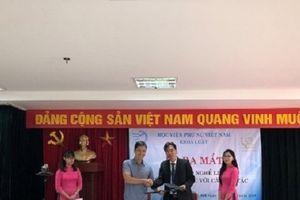 Lễ ra mắt Câu lạc bộ nghề Luật – Học viện Phụ nữ Việt Nam