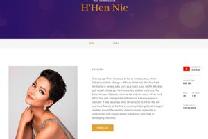 H'hen Niê chính thức xuất hiện trên trang chủ Miss Universe 2019