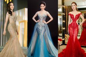 Trang phục dạ hội của Hoa hậu Việt thi quốc tế: Sự 'dậm chân' một kiểu nhiều màu