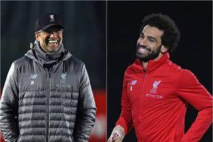 Salah và HLV Klopp cười thả ga ở buổi tập trước đại chiến với Arsenal