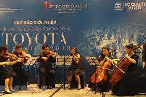 Đêm nhạc cổ điển Toyota 2018 trở lại tại Nhà hát Thành phố Hồ Chí Minh