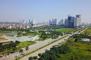 Flycam: Ngắm đường 10 làn xe nối vành đai 3 và vành đai 2 ở Hà Nội