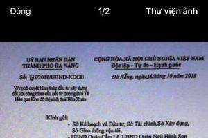 Điều tra vụ giả văn bản lãnh đạo TP để thổi giá đất tại Ngũ Hành Sơn, Cẩm Lệ