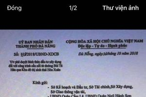 Đà Nẵng: Xuất hiện văn bản giả mạo công văn UBND thành phố