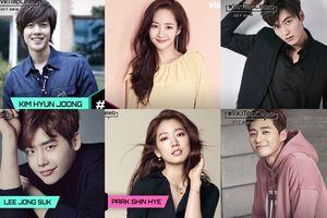 BXH sao được fan quốc tế yêu mến tháng 10: Kim Hyun Joong lọt Top, Park Min Young tụt hạng, Lee Jong Suk - Park Shin Hye dẫn đầu