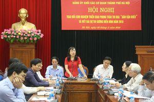 Đảng ủy Khối Các cơ quan TP Hà Nội nâng cao hiệu quả phong trào 'Dân vận khéo'