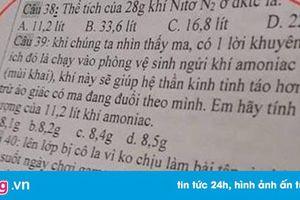 Thầy giáo Sài Gòn mang ma quỷ, 'ăn muối cho bớt nhạt' vào đề thi Hóa