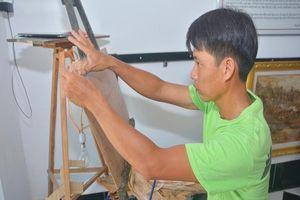 Về miệt thứ Kiên Giang ngắm tranh vỏ tràm độc đáo