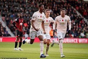 MU - Bournemouth (2-1): Hiệp 1 bỏ đi, hiệp 2... suýt bỏ phí