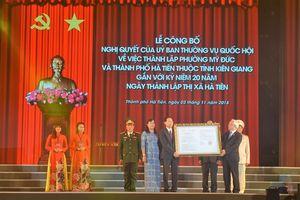 Hà Tiên chính thức trở thành TP. thứ hai của tỉnh Kiên Giang