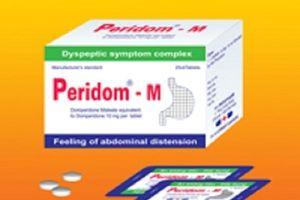 Đình chỉ lưu hành thuốc viên nén bao phim Peridom-M