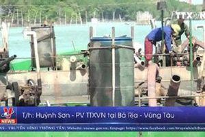 Xử phạt vi phạm hành chính 2 tàu chở cát nhiễm mặn