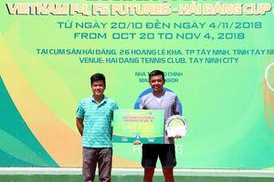 Hoàng Nam giành ngôi á quân giải quần vợt Vietnam F5 Futures