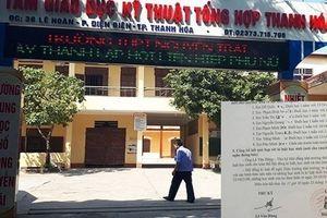 Nhóm học sinh ở Thanh Hóa đã dùng từ tục tĩu để xúc phạm giáo viên