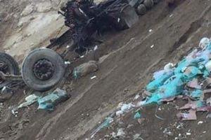 Lai Châu: Tìm thấy thi thể tài xế container lao xuống vực