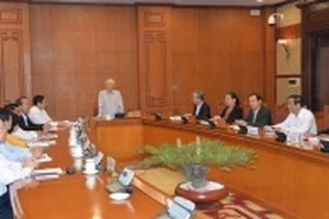Tổng Bí thư, Chủ tịch nước Nguyễn Phú Trọng chủ trì cuộc họp Ban Chỉ đạo xây dựng quy hoạch cán bộ cấp chiến lược