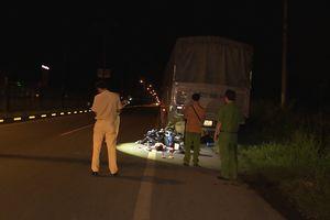 Xe máy tông vào đuôi xe tải, hai công nhân tử vong tại chỗ