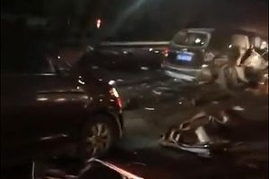 Tai nạn liên hoàn ở Trung Quốc, 59 người thương vong