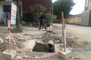 Thi công đường Hồ Tông Thốc: Bao giờ người dân hết lo?