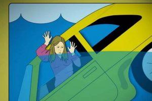 5 bước để thoát khỏi xe ô tô rơi xuống nước