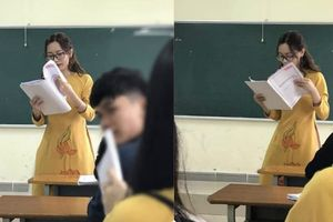 Thêm cô giáo bị chụp lén trên bục giảng khiến dân mạng ráo riết truy tìm danh tính