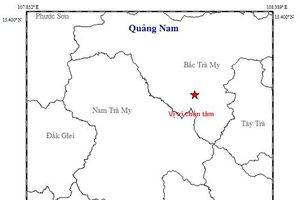 Liên tiếp xảy ra động đất kích thích ở Bắc Trà My