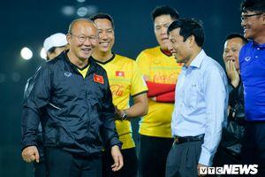 Bộ trưởng Nguyễn Ngọc Thiện: Mong tuyển Việt Nam đá đẹp, hết mình cho màu cờ sắc áo